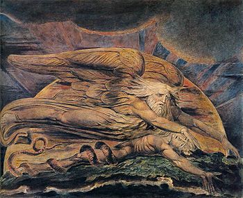 William Blake - Elohim Creating Adam - WGA2219