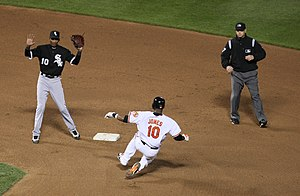 English: Chicago White Sox at Baltimore Oriole...