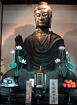 Tượng Ph�t Th�ch-ca tại Minh Nh�t Hương Thôn (明日香村, ja. asuka-mura, Nh�t Bản, 609). Đây là tượng Ph�t cổ nhất tại Nh�t có ghi ch�nh xác thời điểm hoàn tất.