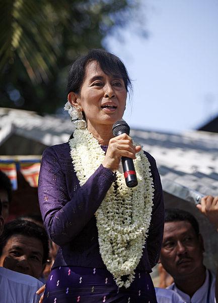 File:Aung San Suu Kyi gives speech.jpg