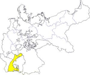 Deutsch: Karte des Deutschen Reiches zu Anbegi...