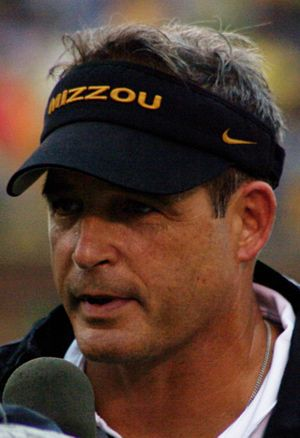 English: Missouri Tigers head coach Gary Pinke...