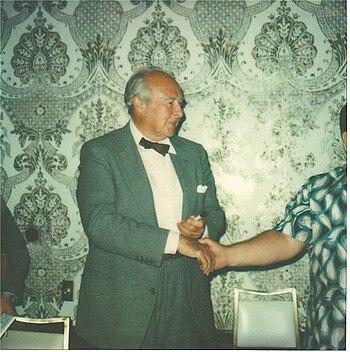 Actor John Houseman, May 1979, at the National...