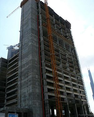 This is a photo showing the construction of Li...