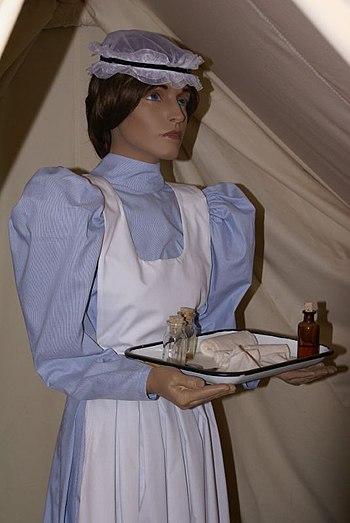 Nurse uniform in the 1900's.