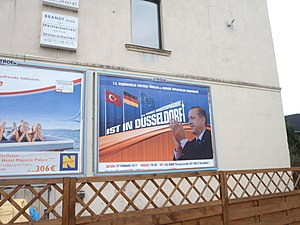 Poster Turkish Prime Minister Recep Tayyip Erd...
