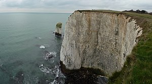 English: Purbeck : The Pinnacles & Chalk Cliff...