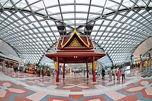 Suvarnabhumi Airport, Bangkok, Thailand - betw...