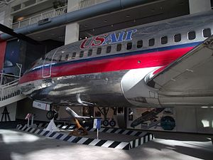 English: 737 body in the Museum of Flight, Sea...