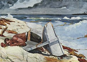 After the Tornado, Bahamas, 1899, watercolor p...