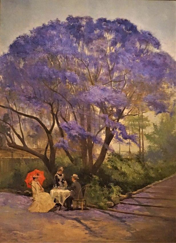 """Under the Jacaranda"" by R Godfrey Rivers - Queensland Art Gallery"