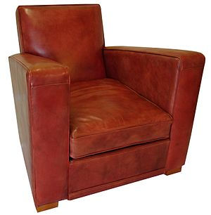 English: art deco club chair