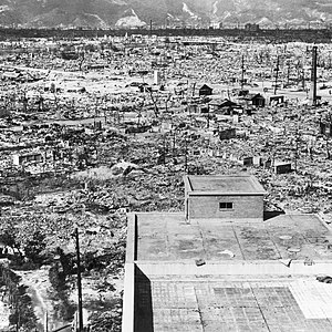 Hiroshima in ruins, October 1945, two months a...