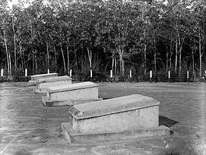 English: European cemetery at rubber plantatio...