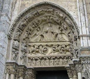 Chartres - Westportal Monatsbilder