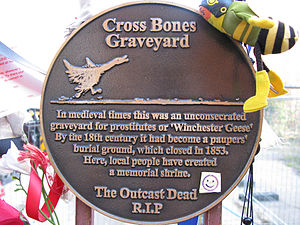 Gates of the Cross Bones graveyard, Southwark,...