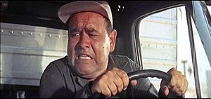 Jonathan Winters as a truck driver