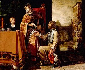 English: King David Handing the Letter to Uria...