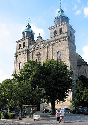 Français : Malmedy (Belgique), la cathédrale S...