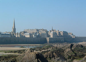 The walled city of Saint-Malo was a former str...