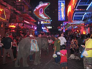 Soi Cowboy, a red-light district in Bangkok