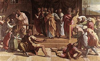 The Death of Ananias, by Raphael