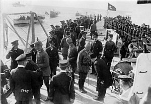 Kaiser Wilhelm II visiting Goeben in October 1917