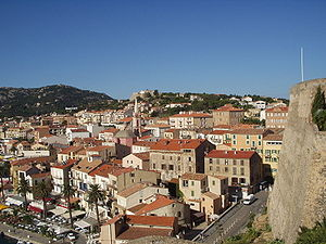 Calvi, the town where the festival takes place.