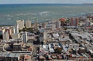 Aerial view of Comodoro Rivadavia