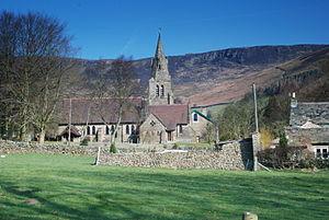 English: The Edale Village Church, Derbyshire