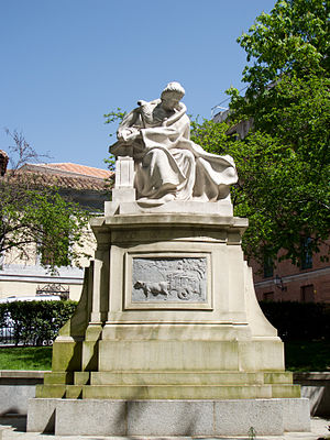 English: Monument to Emilia Pardo Bazán in Mad...