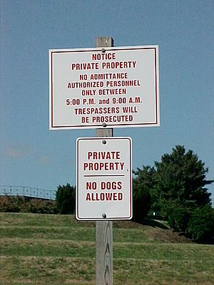 GWMNM private property sign