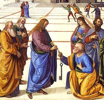 English: Christ Handing the Keys to St. Peter ...