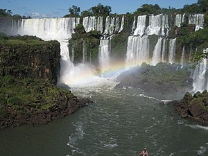 English: The landscape of the Iguazu Falls in ...