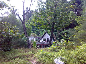 Khao Lak, deserted house at the beach, left to...