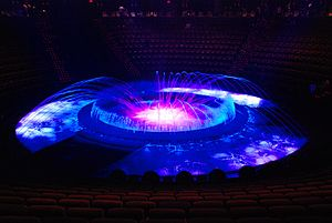 Le Reve Theater at the Wynn (end of the show)