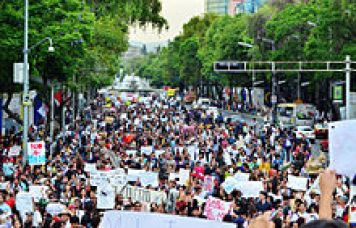 Yo Soy 132 protest in Mexico City on May 19, 2012