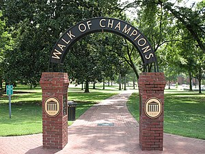The Walk of Champions at University of Mississ...