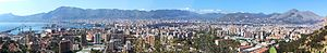 English: a panoramic view of Palermo, the city...