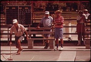 Photograph of Shuffleboard at the Century Vill...