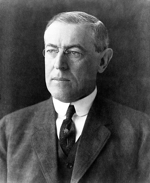 Woodrow Wilson, from Wikimedia