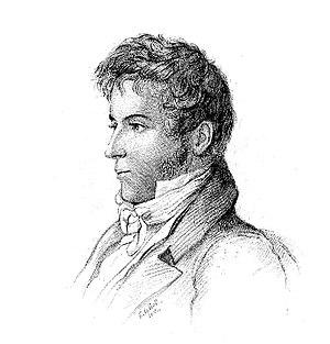 Engraving of American author Washington Irving...