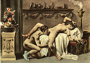 Édouard-Henri Avril's depiction of cunnilingus