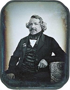Daguerreotype of Louis Daguerre in 1844 by Jea...