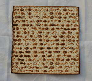 """Holyland"" brand matzah, machine-mad..."