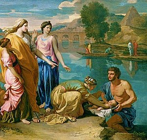 English: Baby Moses rescued from the Nile