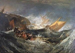 El naufragio, óleo sobre lienzo.