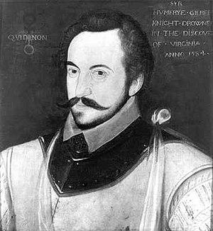 Fernadez's patron, Sir Humphrey Gilbert, c. 1583