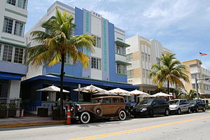 English: A photograph taken of Ocean Drive in ...