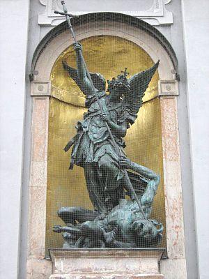 The Archangel Michael vanquishing Luzifer
